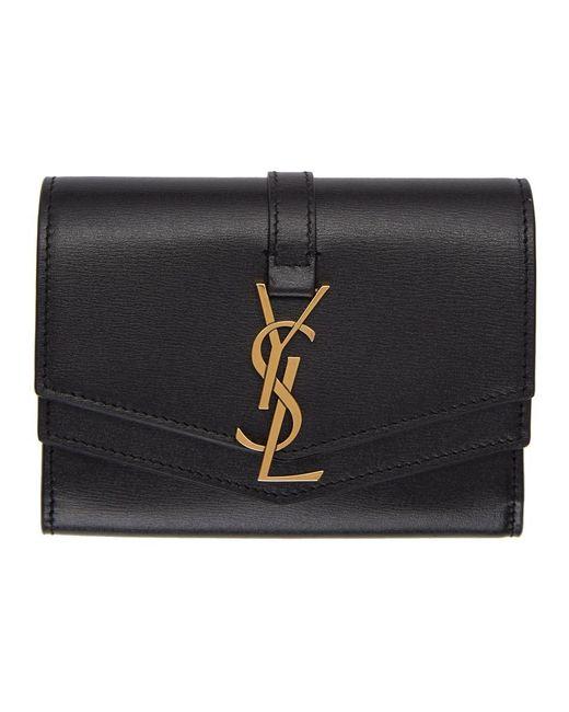 Saint Laurent Black Small Sulpice Wallet