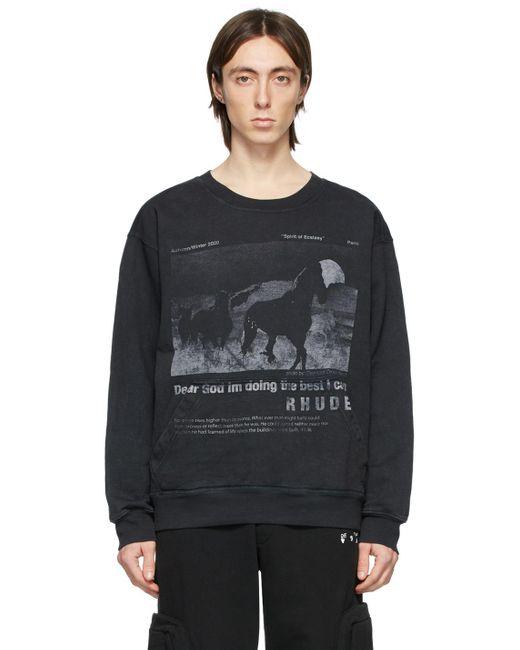 メンズ Rhude ブラック Best I Can スウェットシャツ Black