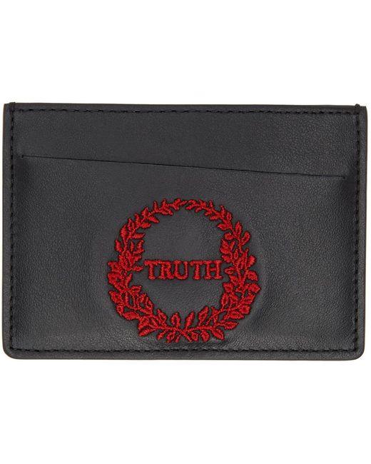 メンズ Maison Margiela ブラック Truth カード ケース Black