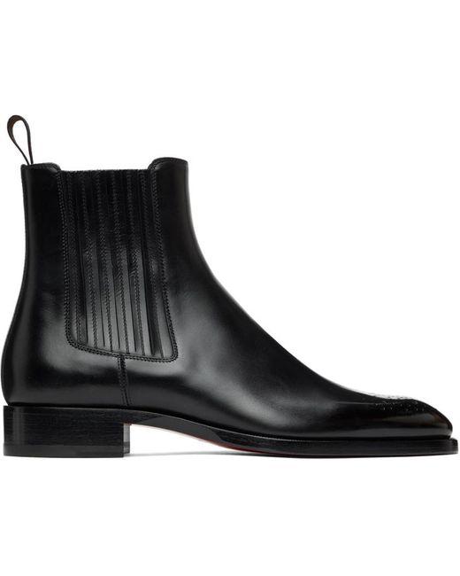 メンズ Christian Louboutin ブラック Angloman チェルシー ブーツ Black