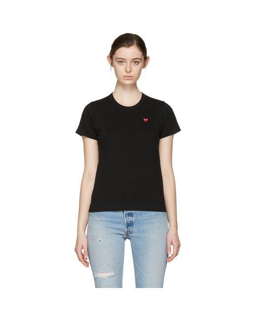 Play Comme des Garçons - Black Small Heart T-shirt - Lyst