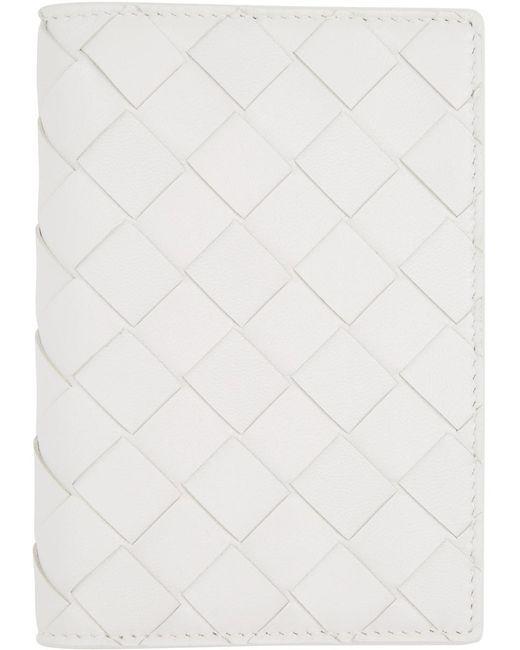 Bottega Veneta ホワイト イントレチャート パスポート ホルダー White
