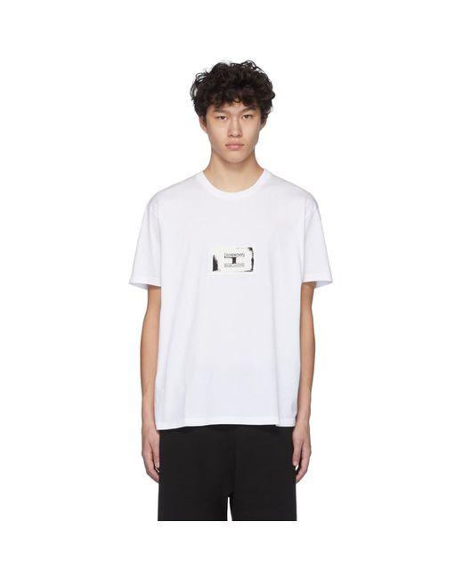 メンズ Givenchy ホワイト スタンプ パッチ T シャツ White