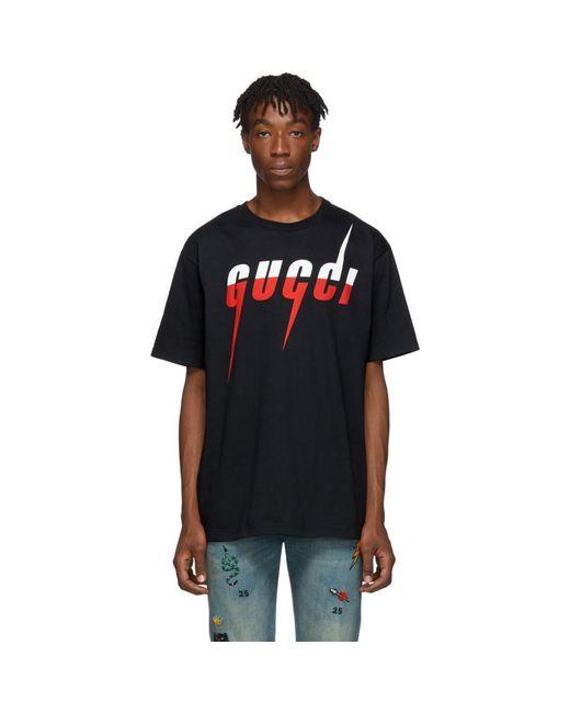 メンズ Gucci ブラック GG ブレード T シャツ Black