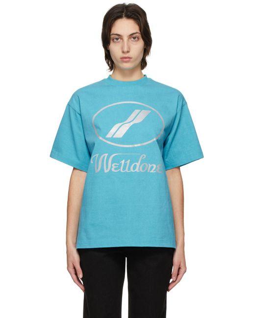 we11done ブルー ロゴ T シャツ Blue
