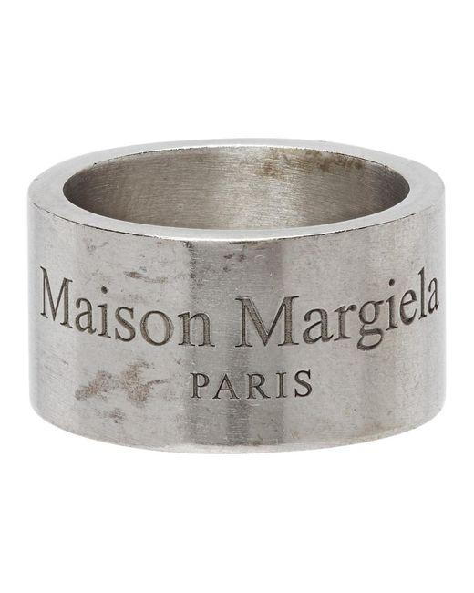 Bague argentee Wide Logo Maison Margiela en coloris Metallic