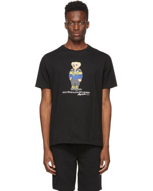 メンズ Polo Ralph Lauren ブラック Polo Bear T シャツ Black