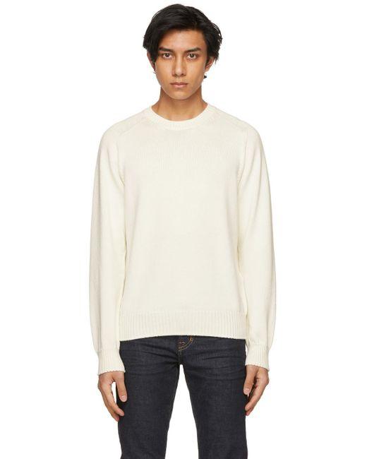 メンズ Tom Ford オフホワイト シルク セーター White