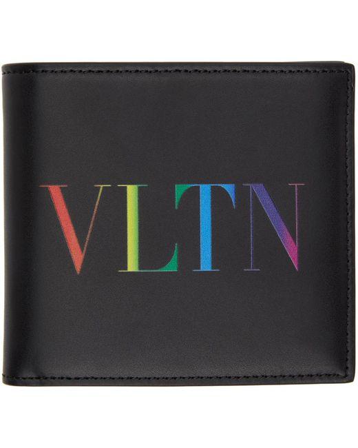 メンズ Valentino Garavani コレクション ブラック & マルチカラー Vltn ウォレット Black