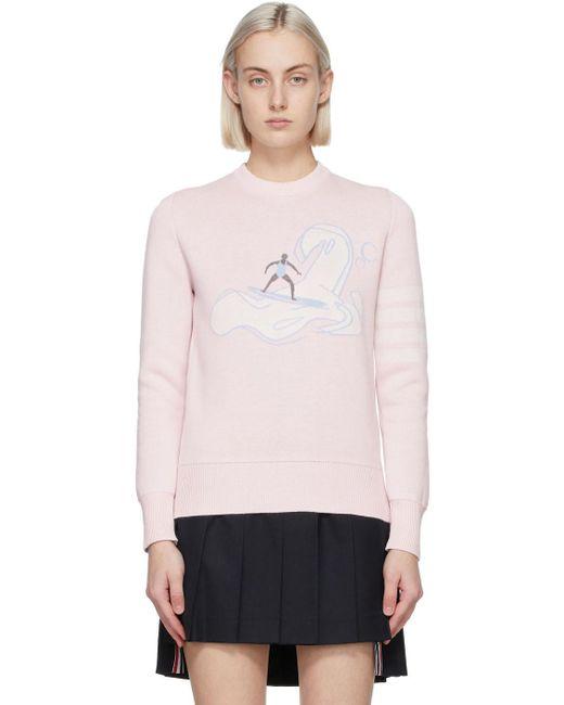 Thom Browne ピンク 4bar セーター Pink