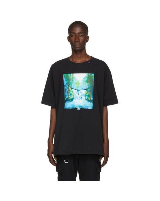 メンズ Off-White c/o Virgil Abloh ブラック And マルチカラー Waterfall T シャツ Black