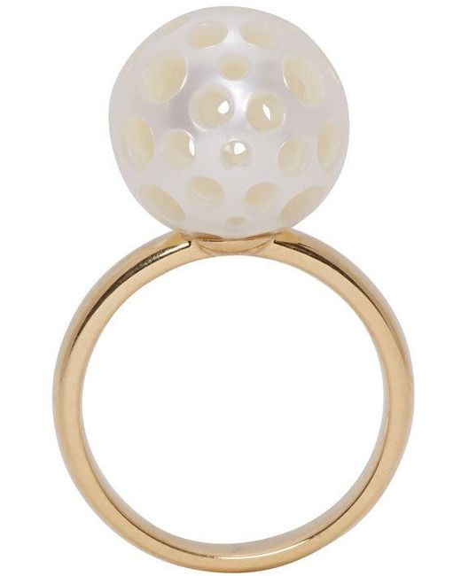 Melanie Georgacopoulos | Metallic Gold Drilled Pearl Tasaki Edition Ring | Lyst