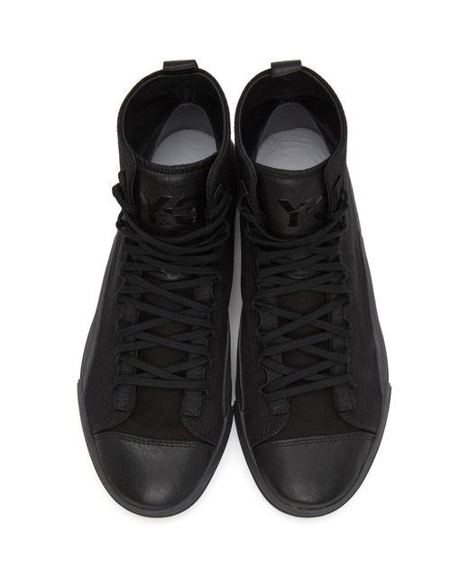メンズ Y-3 ブラック Yuben ミッド スニーカー Black