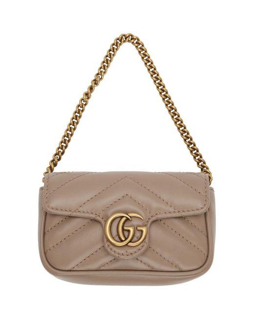 Gucci ピンク GG マーモント コイン ケース バッグ Multicolor