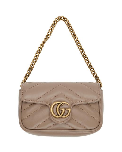 Gucci Multicolor Pink GG Marmont Coin Case Bag