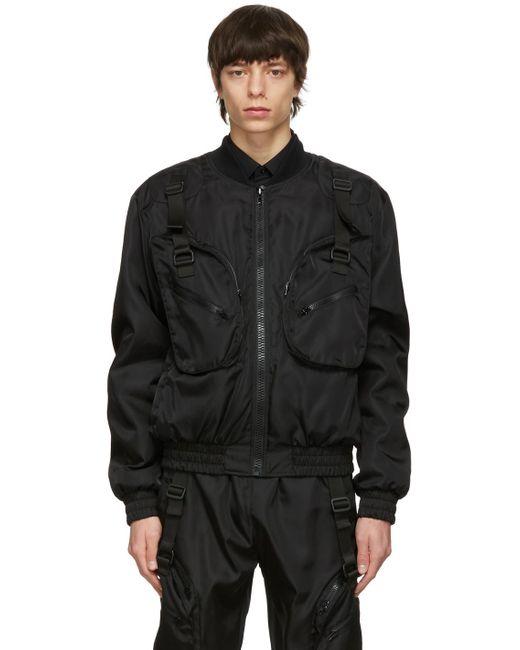 メンズ Moschino ブラック ボンバー ジャケット Black