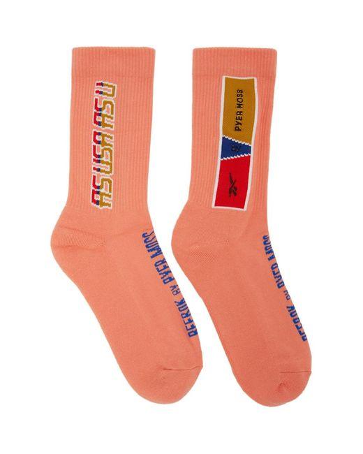 REEBOK X PYER MOSS Multicolor Pink Logo Socks for men