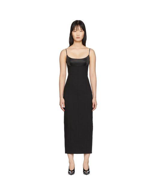 Alexander Wang ブラック テーラード キャミ ロング ドレス Black