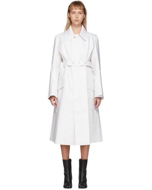 Maison Margiela ホワイト マッキントッシュ トレンチ コート White