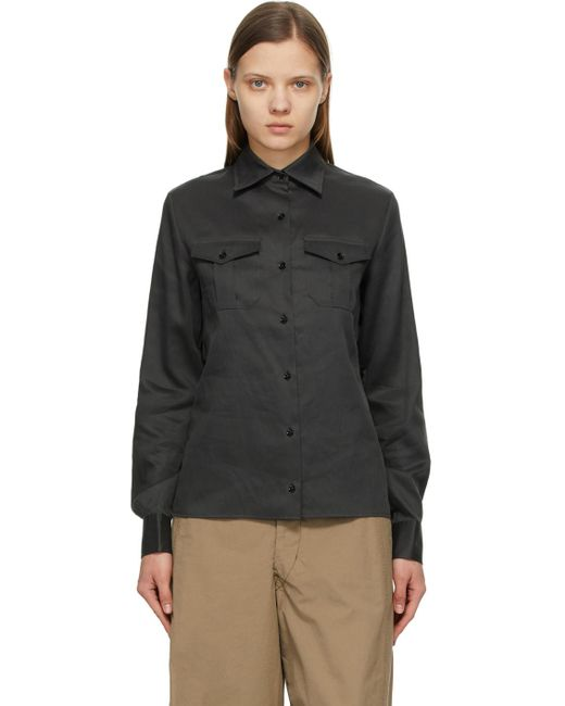 Lemaire グレー 2 ポケット シャツ Gray