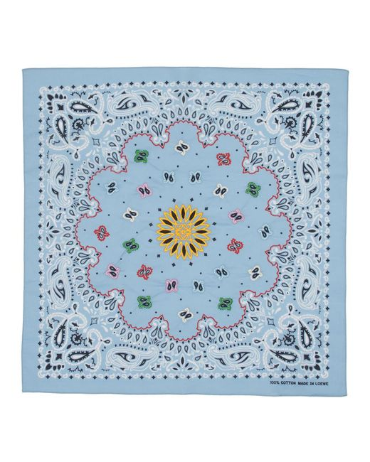 Loewe - Blue Bandana a broderies bleu for Men - Lyst