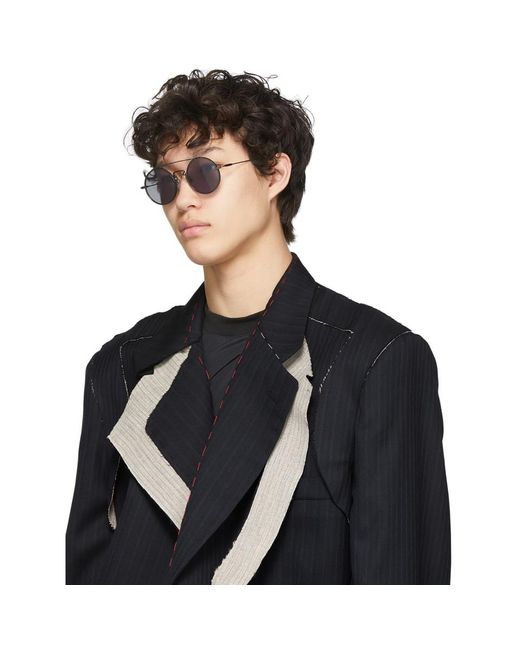 メンズ Yohji Yamamoto ブラック Yy7018 サングラス Black