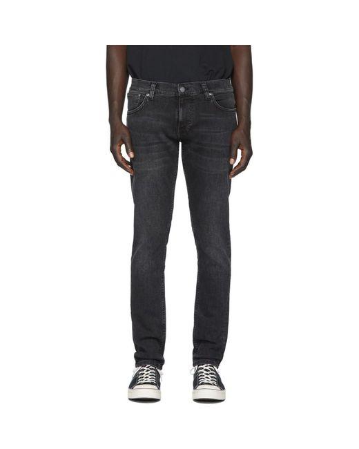 メンズ Nudie Jeans ブラック Tight Terry ジーンズ Black