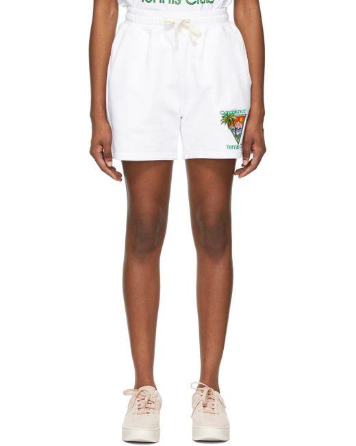 CASABLANCA ホワイト Tennis Club ショーツ White
