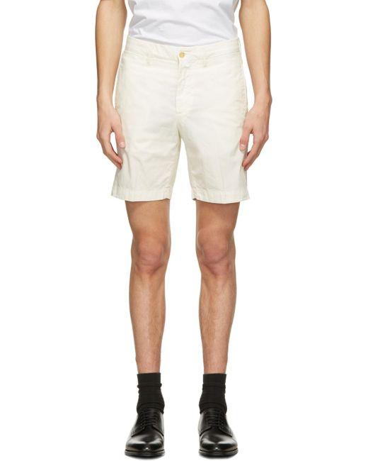 メンズ Dunhill オフホワイト バミューダ ショーツ White