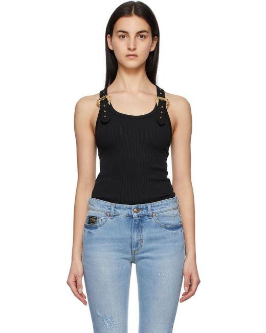 Versace Jeans ブラック タンク トップ Black