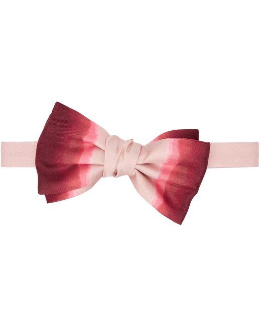 メンズ Alexander McQueen ピンク & レッド シルク Dip-dye ボウタイ Pink