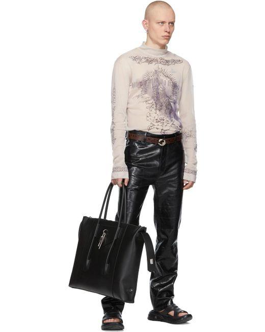 メンズ Givenchy リバーシブル ブラウン クロコ G ベルト Black