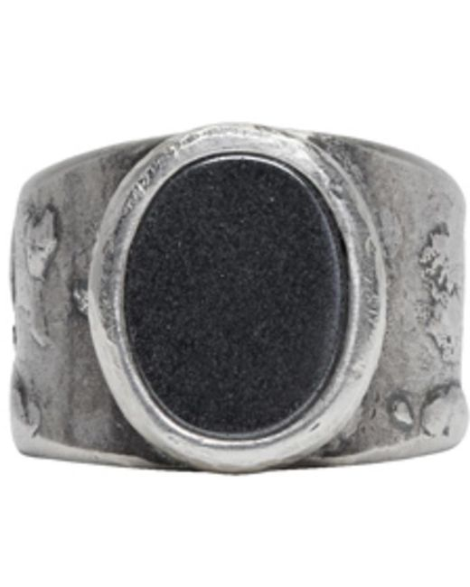 Maison Margiela   Metallic Silver Large Oval Face Ring for Men   Lyst