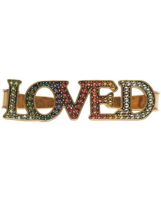 Gucci | Metallic Gold 'loved' Palm Cuff | Lyst