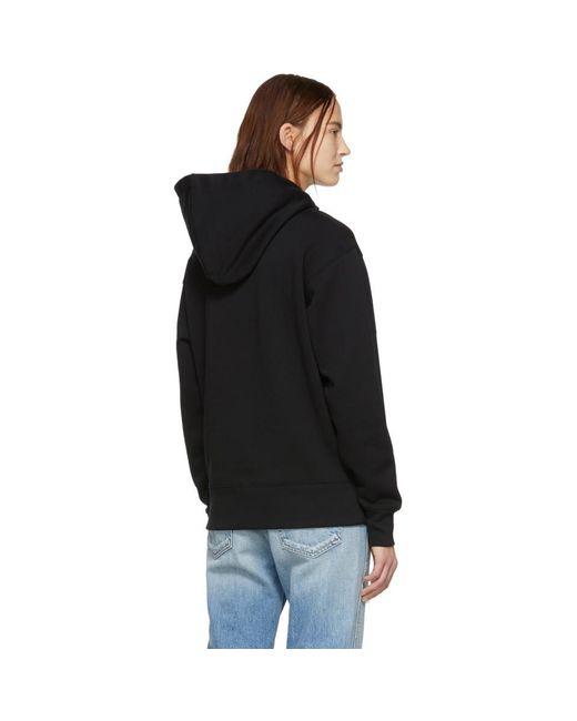 Pull a capuche et ecusson noir Ferris Acne en coloris Black