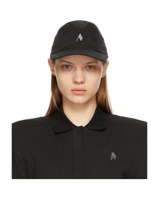 Casquette a logo noire The Attico en coloris Black