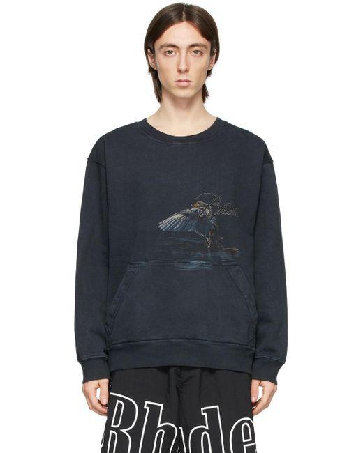 メンズ Rhude ブラック Nature Goose スウェットシャツ Black