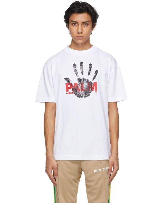 メンズ Palm Angels ホワイト T シャツ White