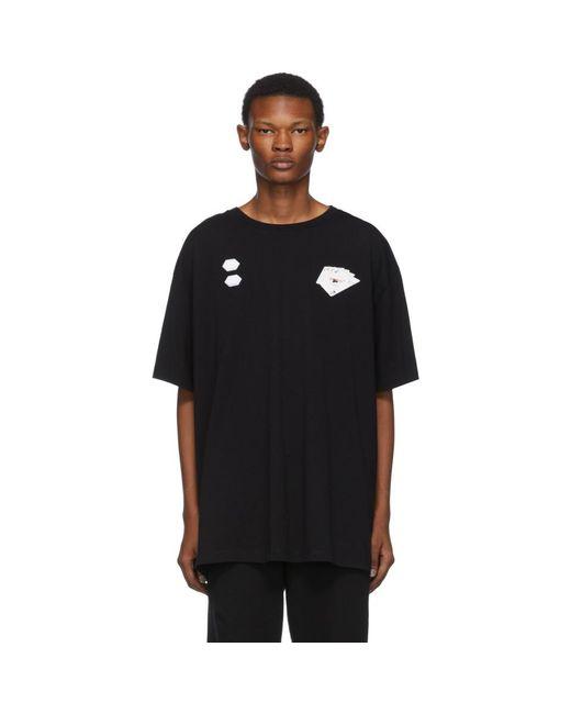 メンズ Off-White c/o Virgil Abloh ブラック ハンド カード T シャツ Black