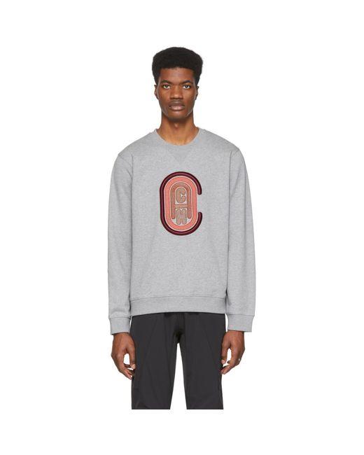 メンズ COACH グレー ロゴ スウェットシャツ Gray