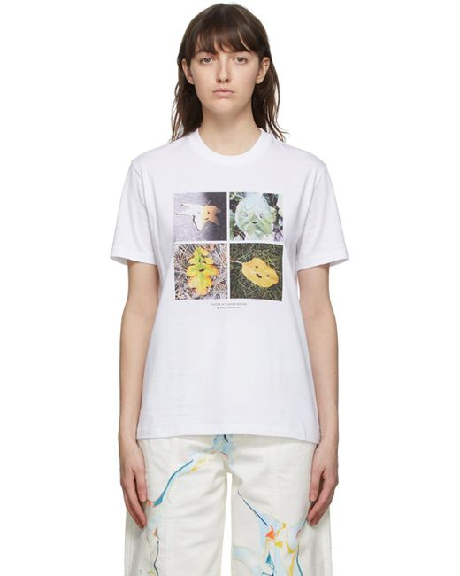 Stella McCartney ホワイト Faces In Places T シャツ White