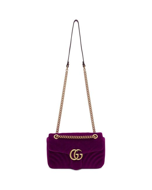2e35cd4749a3 Gucci - Multicolor Pink Small Velvet GG Marmont 2.0 Bag - Lyst ...