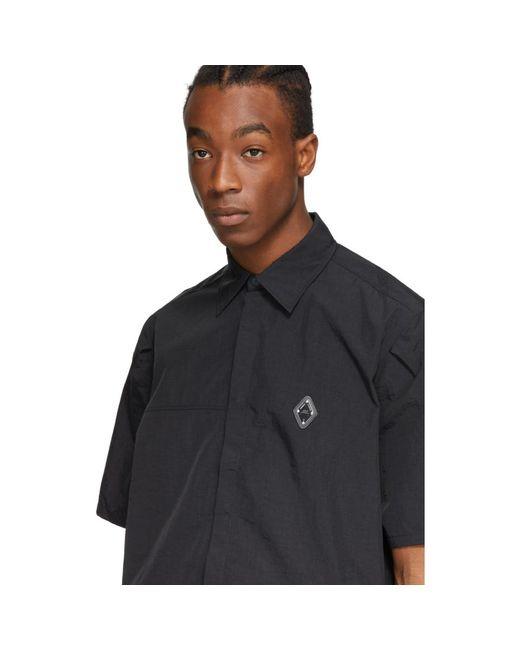 メンズ A_COLD_WALL* * ブラック Rhombus Badge ショート スリーブ シャツ Black