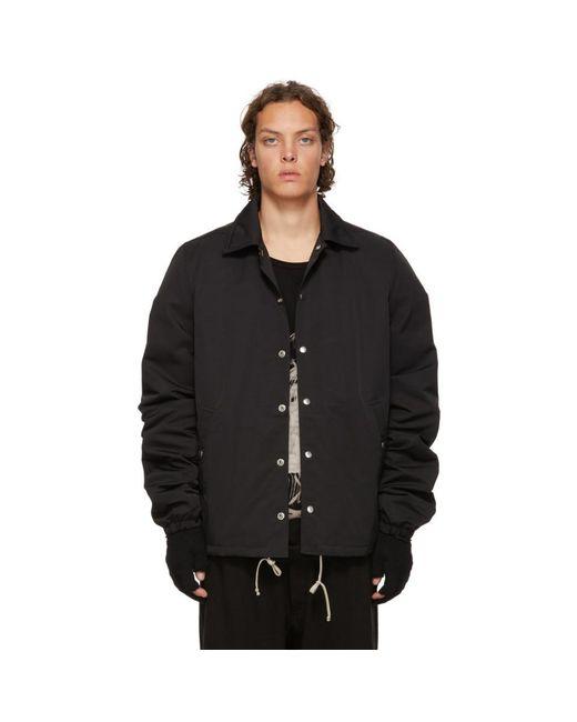 Rick Owens Drkshdw - Black Snap Front Jacket for Men - Lyst
