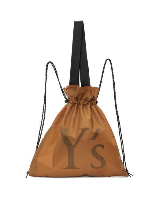 Y's Yohji Yamamoto イエロー ナイロン Logo バックパック Yellow