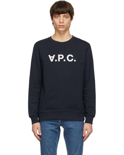 メンズ A.P.C. ネイビー Vpc スウェットシャツ Blue