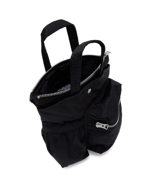 Sacai Porter Edition ブラック スモール ポケット バッグ Black