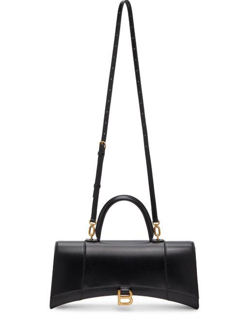 Balenciaga ブラック Stretched Hourglass バッグ Black