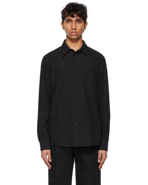 メンズ Lemaire ブラック Regular シャツ Black