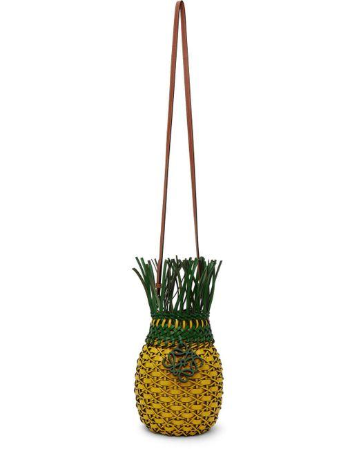 メンズ Loewe イエロー & グリーン Pineapple バッグ Green